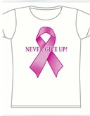 Never Give Up - Breast Cancer Awareness T-Shirt
